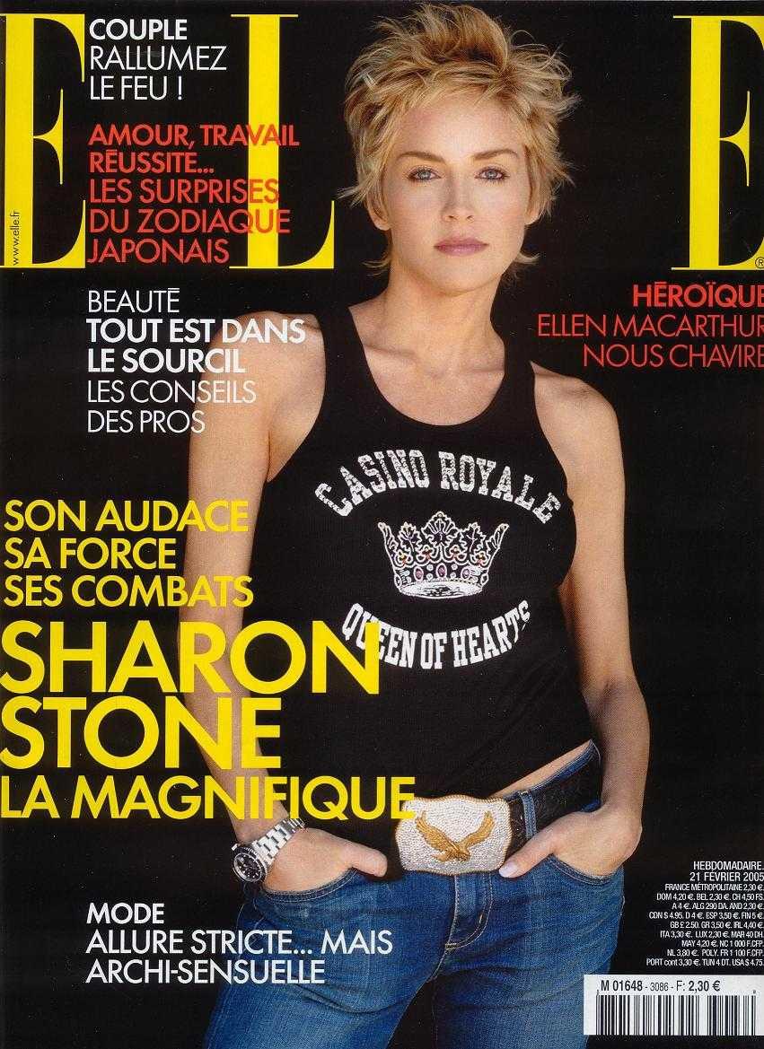 Sharon stone nouvelle coiffure